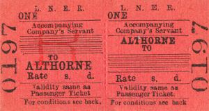 althorne rail ticket